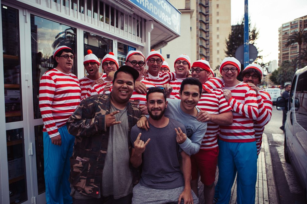 So well.. stop looking for Wally we've found all lost Wally's of the world here in Benidorm.. having a lot of fun!!