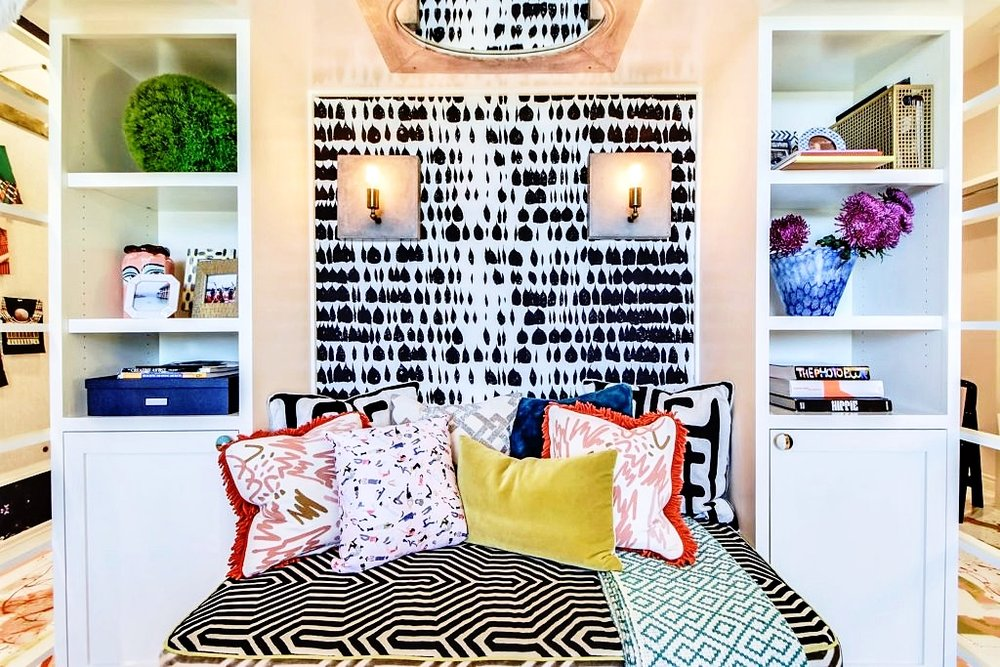 Wallpaper is a great option for adding some color to your home because of how eye-catching and interesting it can make a room. You can either choose a simple design that's a little more classic or something more daring and intricate. Either option is sure to electrify the room.