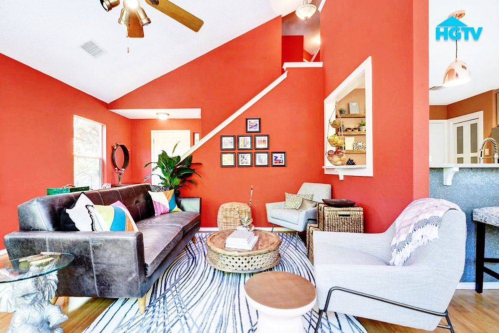 One easy way to liven up the room is with throw pillows. A bright, unexpected color is sure to draw one's eye and liven up your living space.