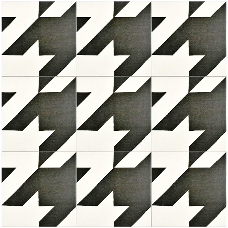 MEROLA TILE – Caprice Tweed Black and White Porcelain Wall Tile, MSRP $10.81