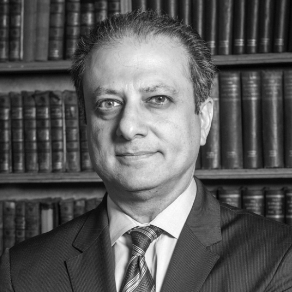 PREET BHARARA    Preet Bharara is an American lawyer who served as U.S. attorney for the Southern District of New York from 2009 to 2017. While in this position... ( read more )