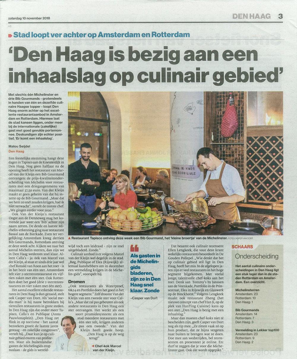 AD Den Haag | Restaurant Tapisco