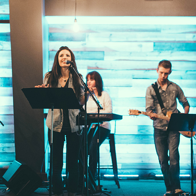 WHAT DO YOU SING? - Exalting our Savior and strengthening our faith, we worship primarily through contemporary praise and worship songs.