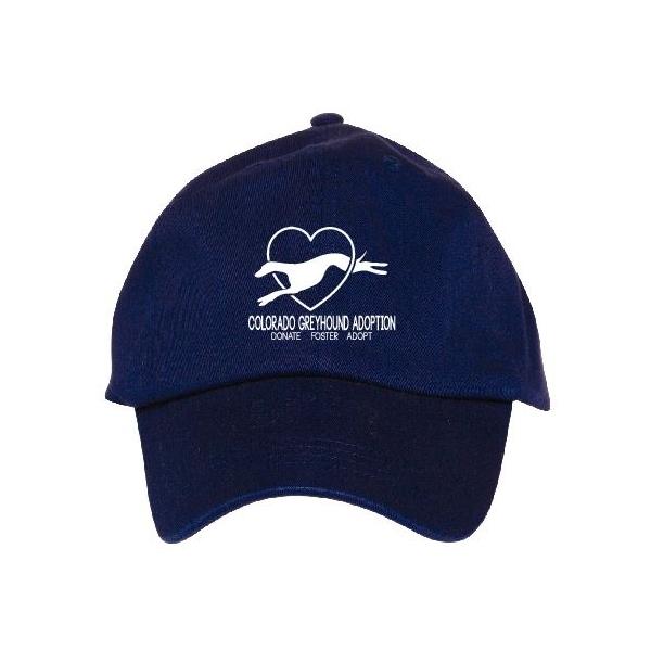 Baseball Hat-Blue with White — Colorado Greyhound Adoption 9d26ec0b608