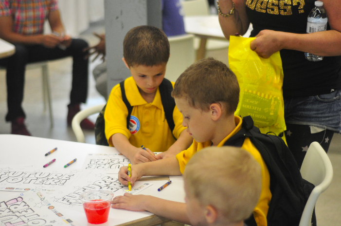 These kids are learning about civic engagement early!