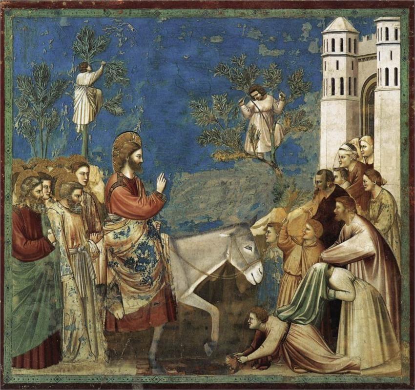 The Entry into Jerusalem , Giotto di Bondone c. 1305