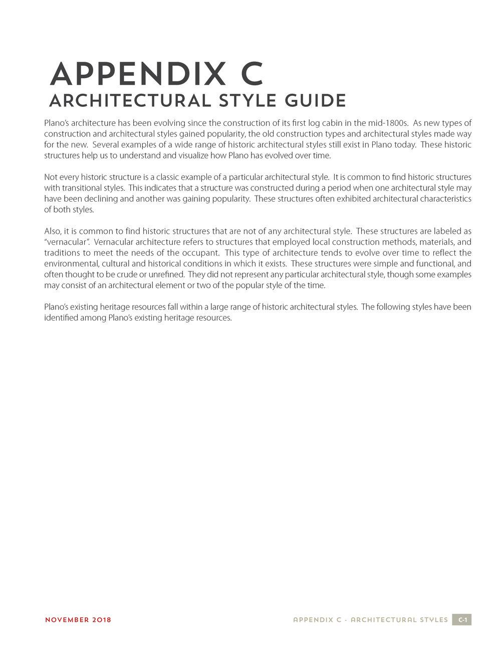 Appendix C - Architectural Style Guide
