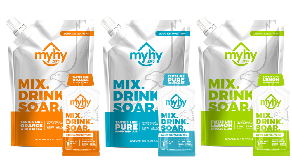 MyHy - Designed for when you are not active. Use before and after activity or on days where you want to stay hydrated while you kick up your feet.
