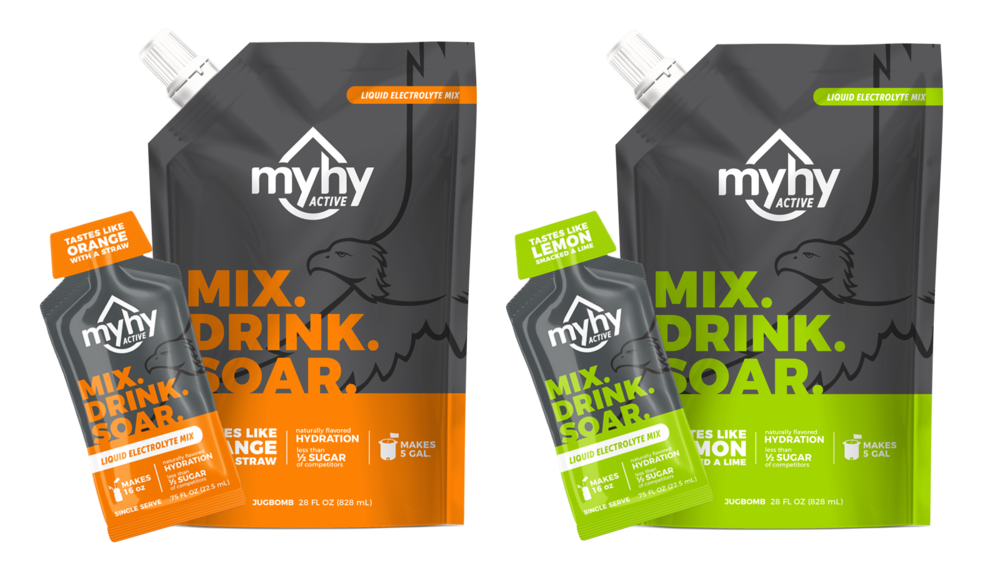 MyHy ACTIVE - Designed to be used during physical activity or sweaty situations. We've strategically added sugar and more electrolytes to replace what you sweat out.