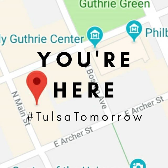 . YOU'RE HERE #tulsatomorrow  www.tulsatomorrow.com . . #careernetworking  #biggestsmallcity  #visittulsa  #visitoklahoma  #jewishfederation  #gkff #schustermanfoundation  #philanthropiccity