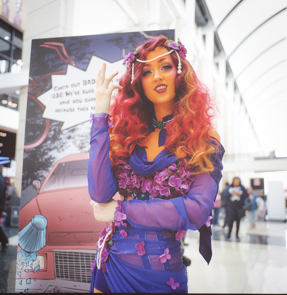 C2E2 kodak portra film cosplay portrait sexy