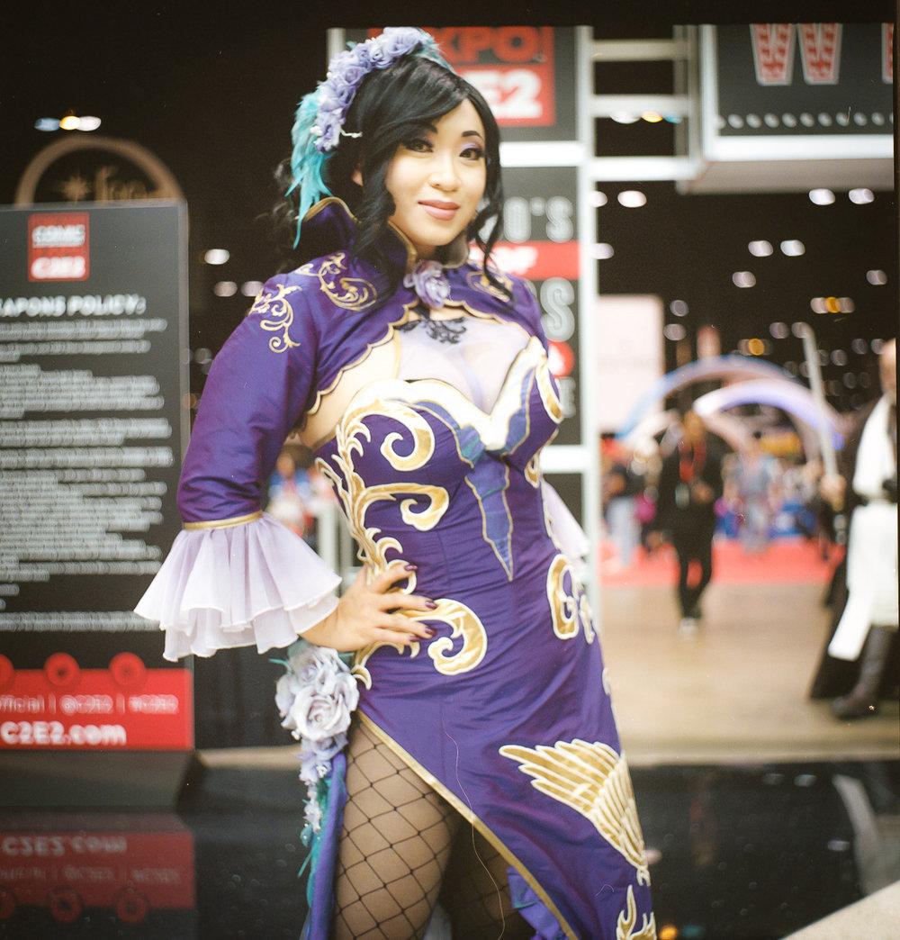 C2E2 kodak portra film cosplay portrait sexy Yaya Han