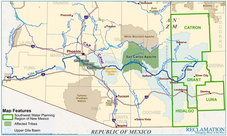 Map Of Central Arizona.Maps New Mexico Unit Of The Central Arizona Project Eis