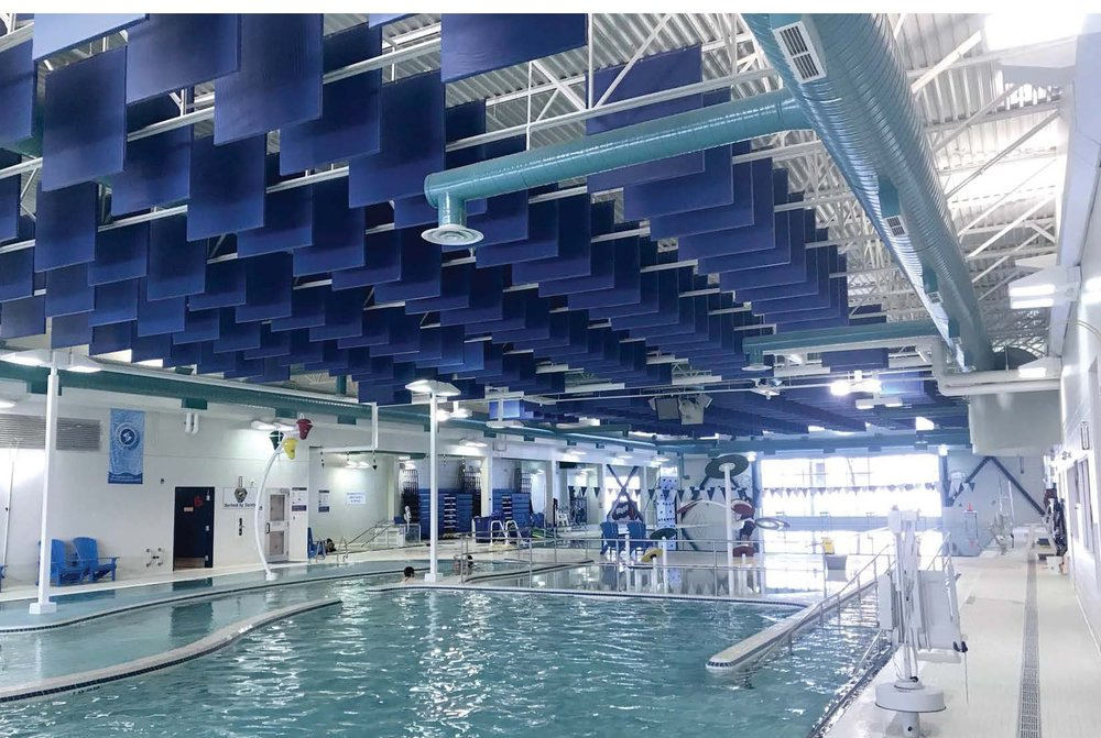 Job Name:  Barrhead Aquatic Centre   Contractor:  Clark Builders   Description:  New multi-pool aquatic centre that was added onto the existing curling agrena in Barrhead. The new building was also equipped with solar panels and inverters.