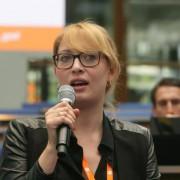 Paula Hannemann auf dem Global Media Forum