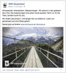 WWF FB Anzeige