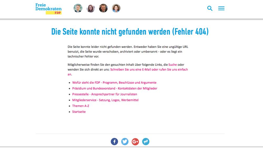 Die Fehlerseite der FDP