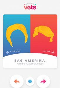 Trump oder Clinton- wer ist Dein Match?