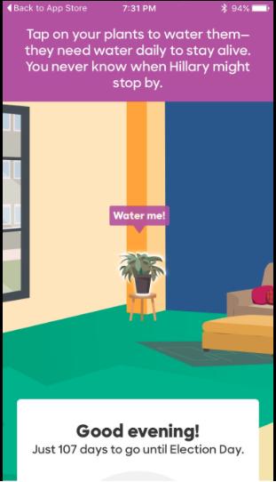 """Vom Interieur lässt sich bis zur Zimmerpflanze im eigenen """"virtual campaign field office"""" alles selbst einrichten und planen"""