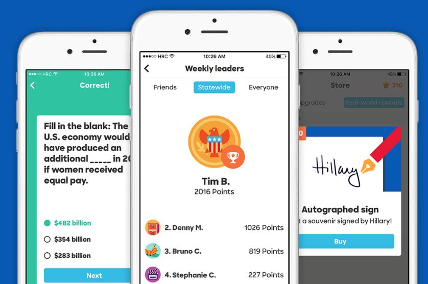 Das Kampagnenteam um Hillary Clinton hat letzte Nacht eine eigenen App für die Präsidentschaftskandidaten gelauncht