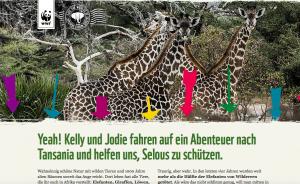 Hier die angepasste Landing-Page der WWF Kampagne