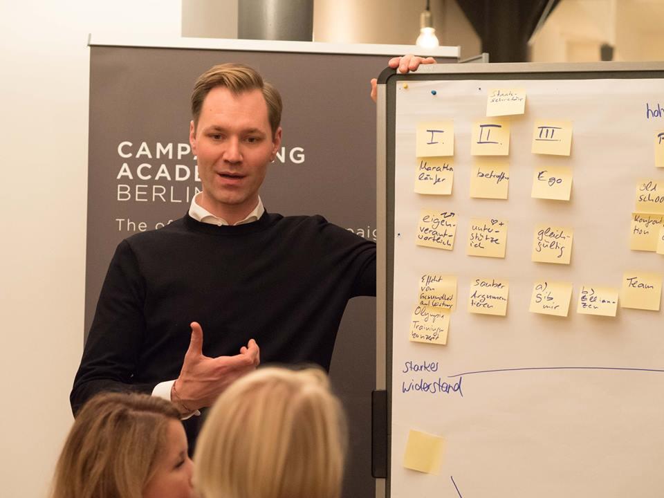 Julius van de Laar Campaigning Academy Berlin