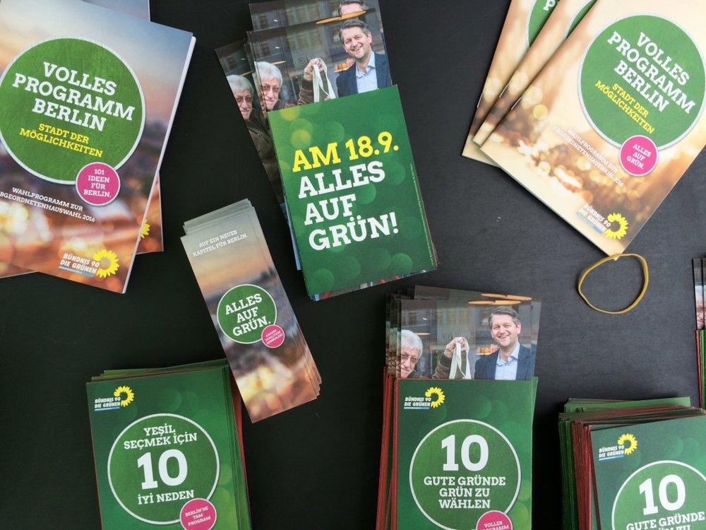 Wahlkampf der Grünen in Berlin