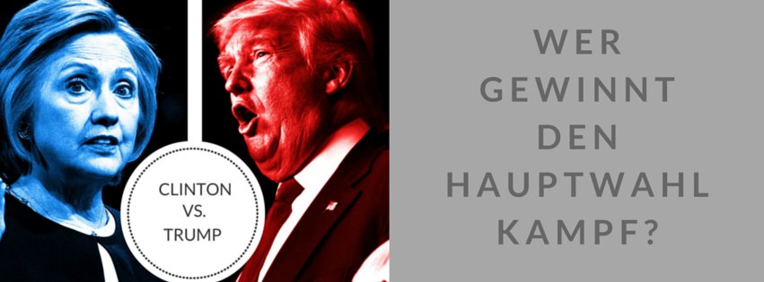 Trump vs. Clinton Campaign Kampagne