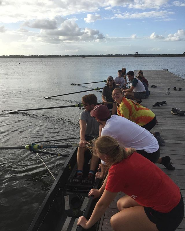 It's been a great week to start novice practices on the water!