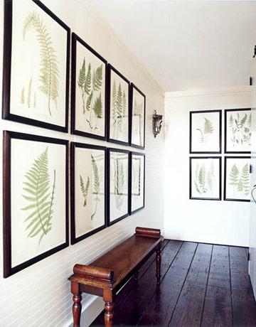 botanical hallway house beautiful
