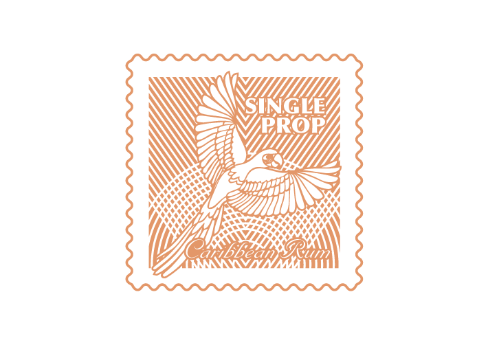 single-prop-rum-parrot-stamp