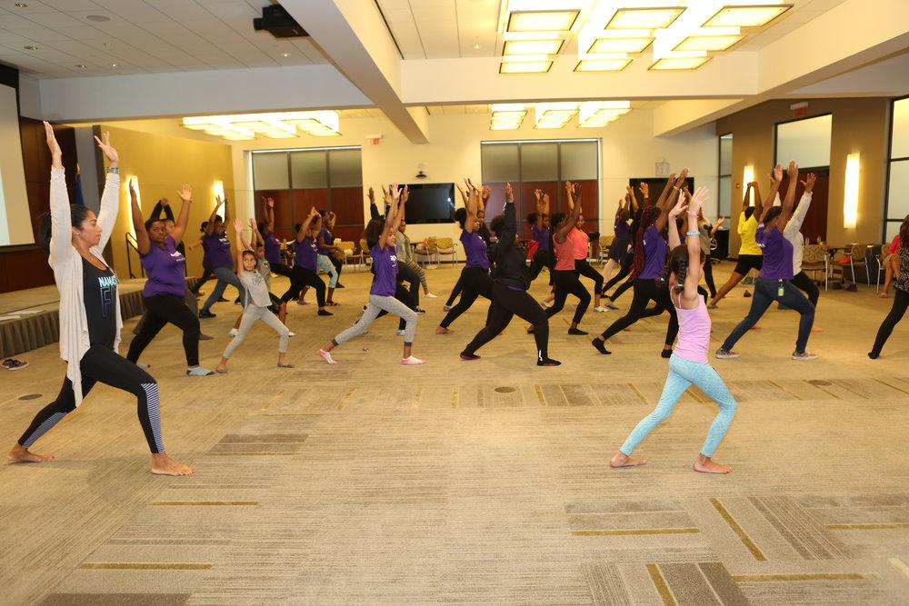 company yoga event