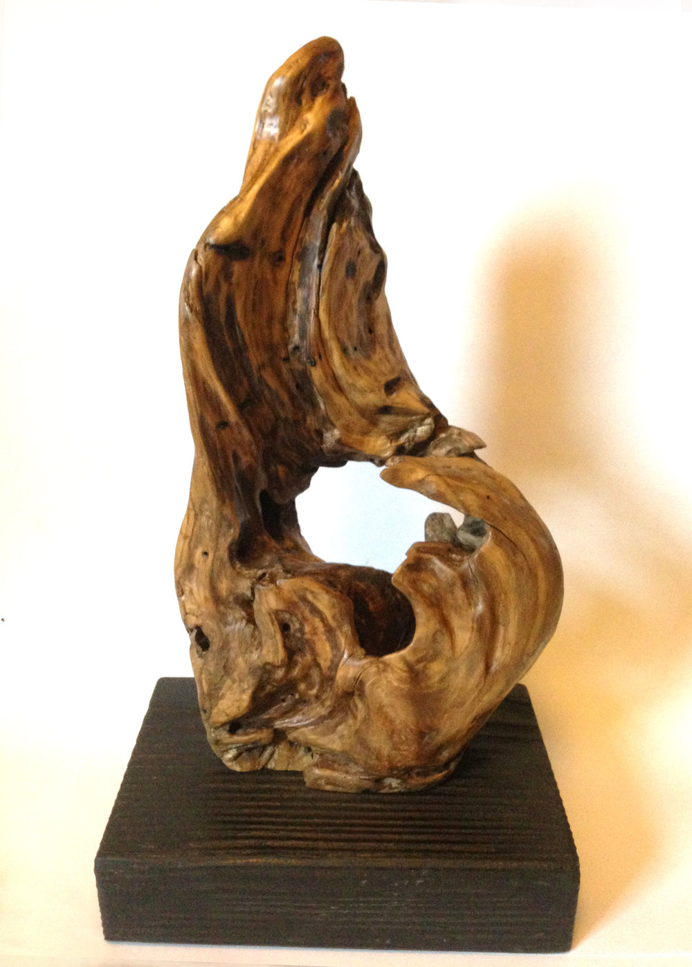 Kalalau - Driftwood sculpture from a remote Hawaiian beach deep into the Kalalau hiking trail. Sold.