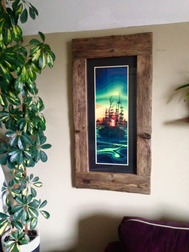 Driftwood frame made for print of Chili Thom painting,  As Above, So Below.