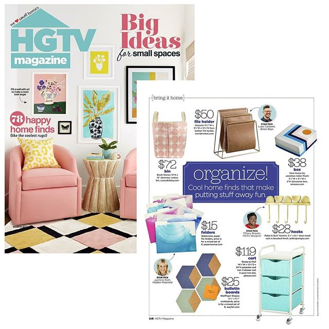 Big thanks to @HGTV magazine for featuring the Bucket Tote in Stones Blush in their March issue!! It is so cool to see this! I've known for a few months that it might possibly be in the magazine, but sometimes it doesn't happen. So I've been eagerly awaiting the issue release! Such a nice thing! Thank you!!