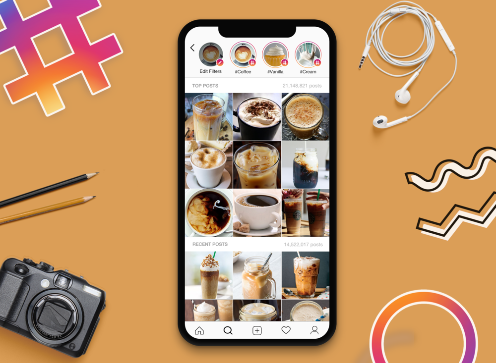 <strong>Instagram Hashtag Filters</strong> <br><hr> Enhancing Instagram's search process by enabling users to find what they are looking for