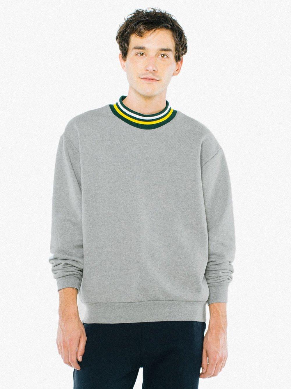 Heavy Terry Mock Neck Sweatshirt