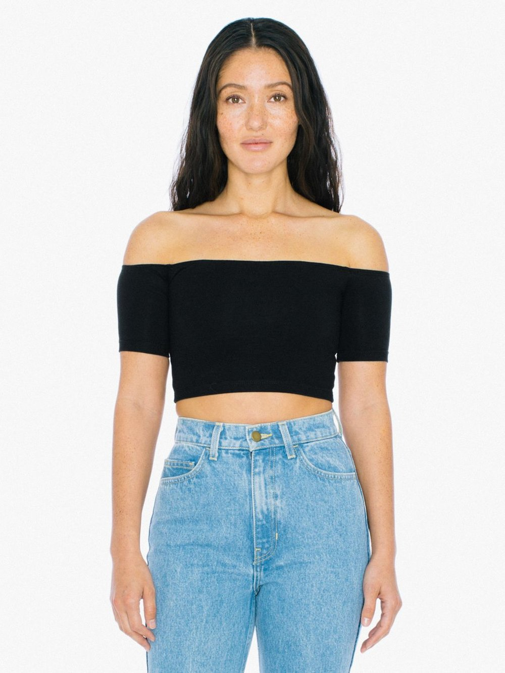 The Cotton Spandex Off-Shoulder Top
