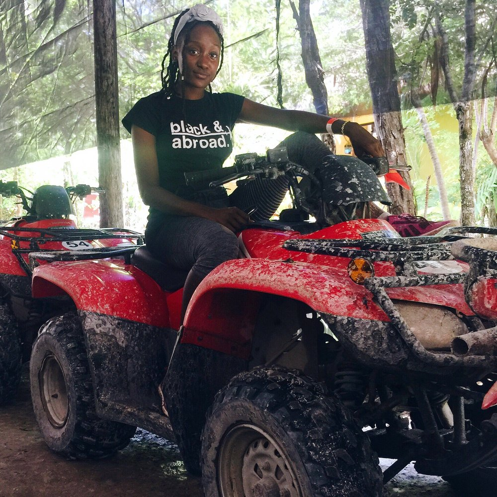 Above: Me on the ATV after the Jungle Excusion in Mexico.