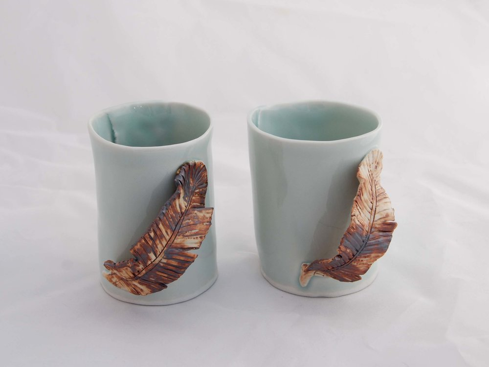 Feather Mugs