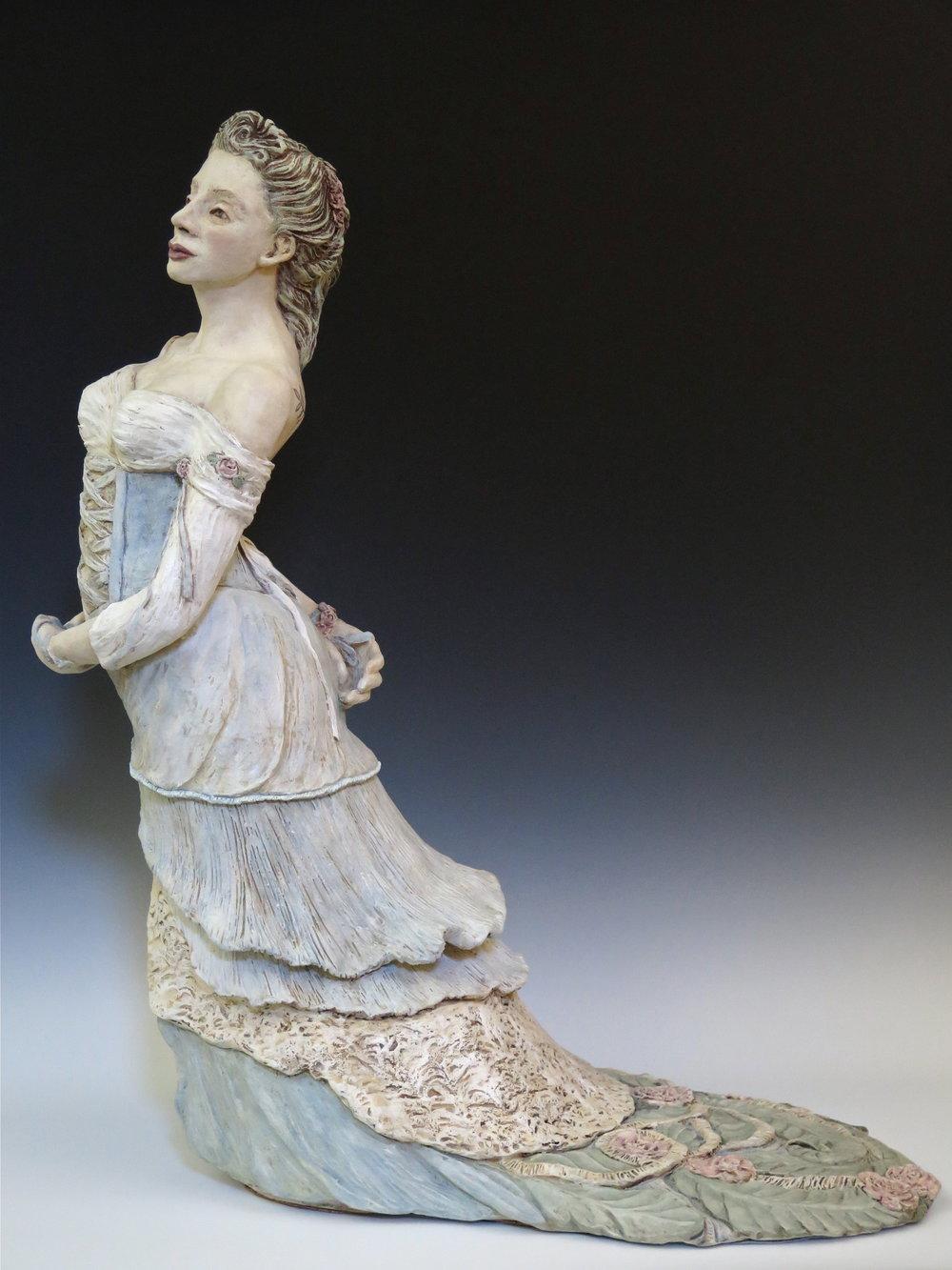 "La Primavera - Stoneware, oxide stains,underglaze, clay paint32"" ×14½""×26""2014"