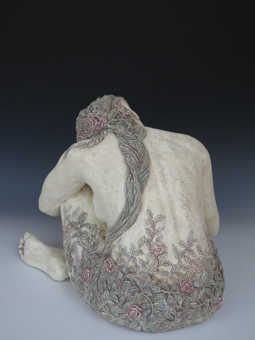"Sweetbriar Rose - Stoneware, engobe, oxide stains,underglaze, clay paint16½""×19""×26""2014"