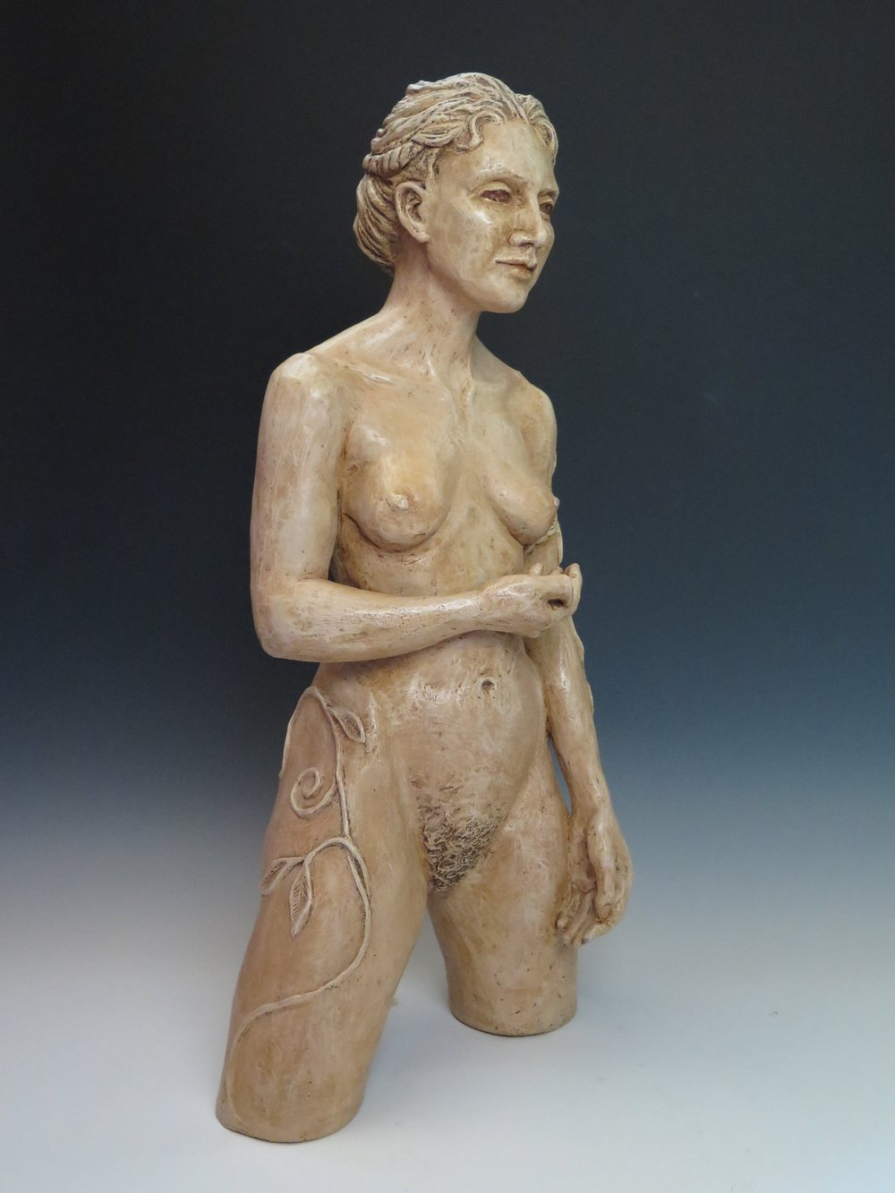 "Compassion in Her Hand  - Stoneware, pigmented wax25"" × 11"" × 7""2010"