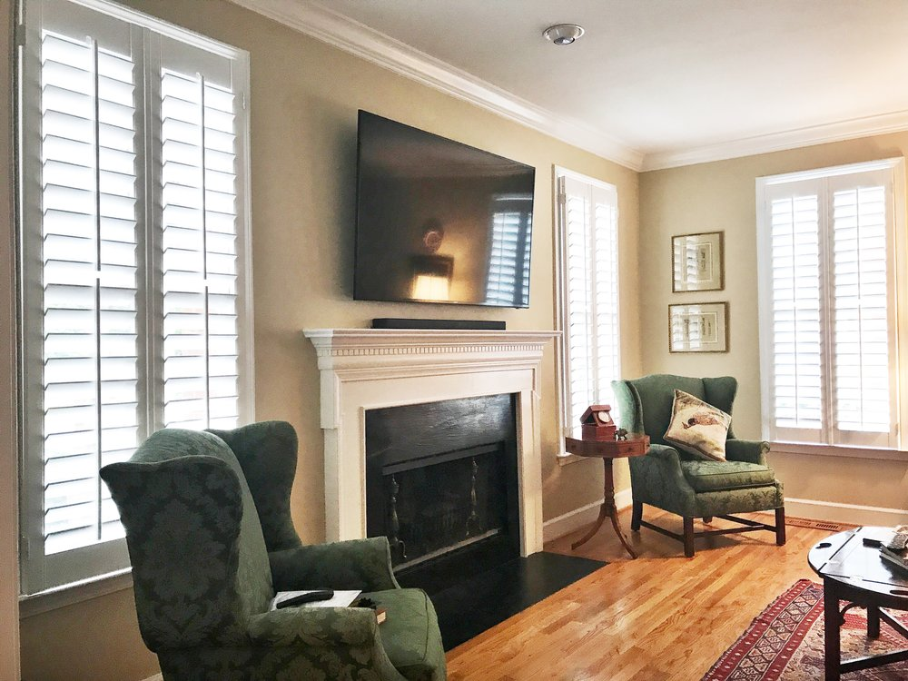 Plantation Shutters  - beautiful basswood product custom made in Georgia with options of 2.5