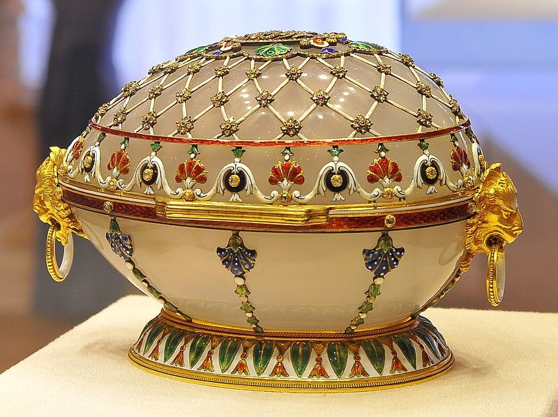 Imperial Faberge Egg  A Fabergé egg is a jeweled egg (possibly numbering as many as 69, of which 57 survive today) created by the House of Fabergé, in St. Petersburg, Imperial Russia.