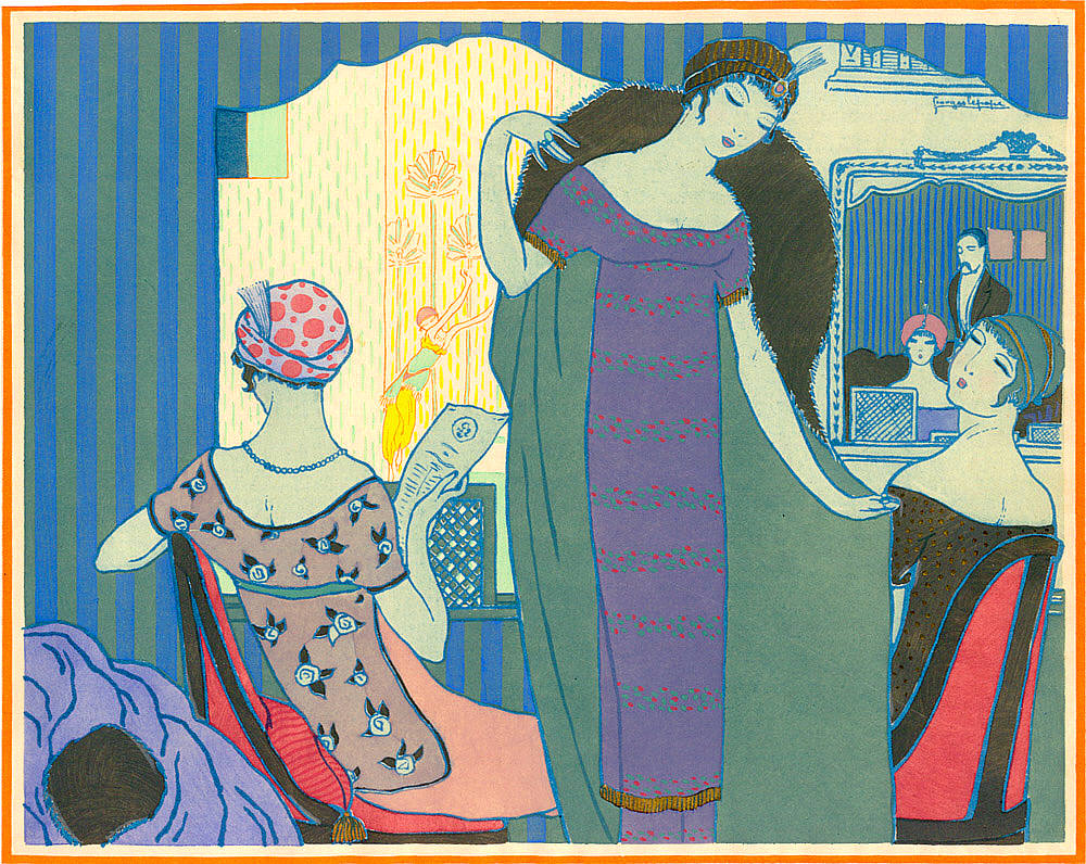 Paul Poiret Fashion Designs with Illustrations by George Lepape   Paul Poiret (20 April 1879, Paris, France – 30 April 1944, Paris) was a leading French fashion designer, a master couturier during the first two decades of the 20th century. He was the founder of his namesake haute couture house.