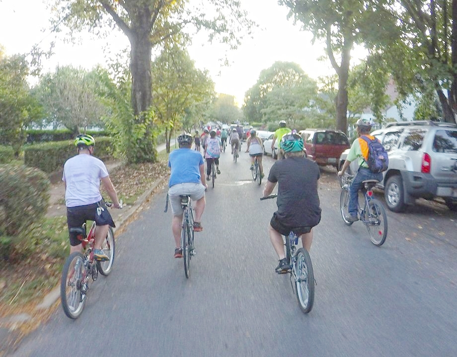 The Taco Ride (Trek) takes nearly 100 riders through the Tree Streets and Downtown every week. It brings lots of new people to District 11 and is a great community building activity.