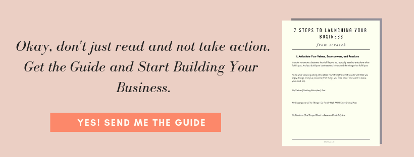 Step by step instructions on building your business from scratch