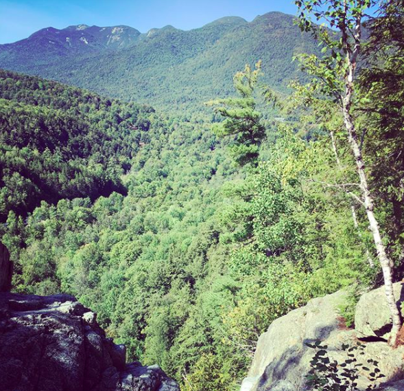 View from the top of the Roaring Brook Falls