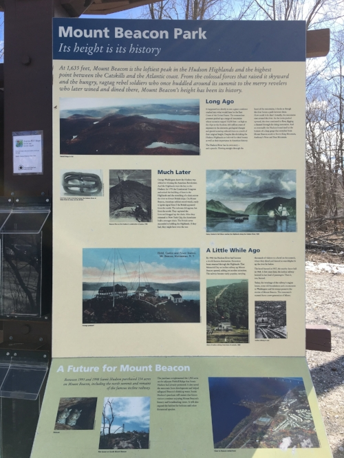 Mt. Beacon history. This sign and info is located at the base of the Casino Trail.